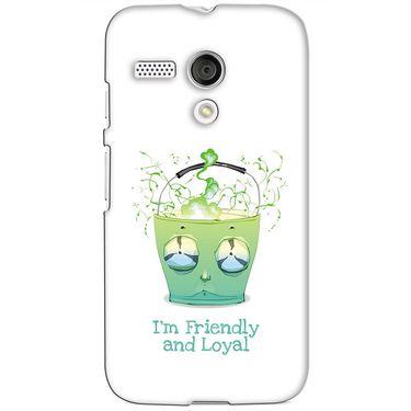 Snooky 38597 Digital Print Hard Back Case Cover For Motorola Moto G - White