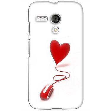Snooky 38602 Digital Print Hard Back Case Cover For Motorola Moto G - White