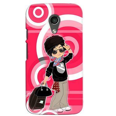 Snooky 38629 Digital Print Hard Back Case Cover For Motorola Moto G 2nd Gen - Rose Pink