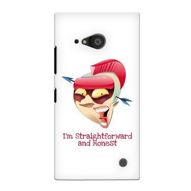 Snooky 38094 Digital Print Hard Back Case Cover For Nokia Lumia 735 - White