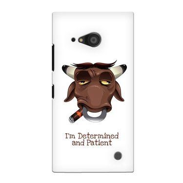 Snooky 38095 Digital Print Hard Back Case Cover For Nokia Lumia 735 - White