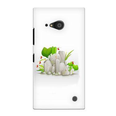 Snooky 38105 Digital Print Hard Back Case Cover For Nokia Lumia 735 - White
