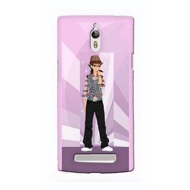Snooky 36673 Digital Print Hard Back Case Cover For Oppo Find 7 - Pink