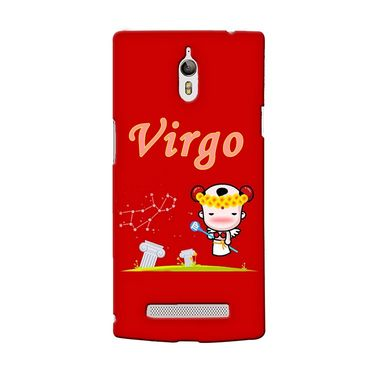 Snooky 36688 Digital Print Hard Back Case Cover For Oppo Find 7 - Red