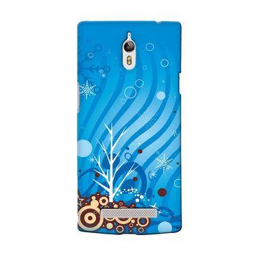 Snooky 36712 Digital Print Hard Back Case Cover For Oppo Find 7 - Blue