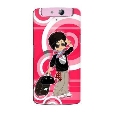 Snooky 36779 Digital Print Hard Back Case Cover For Oppo N1 Mini N5111 - Rose Pink