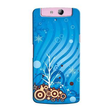 Snooky 36812 Digital Print Hard Back Case Cover For Oppo N1 Mini N5111 - Blue
