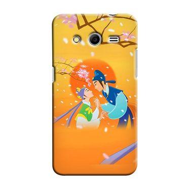 Snooky 35437 Digital Print Hard Back Case Cover For Samsung Galaxy Core 2 - Orange