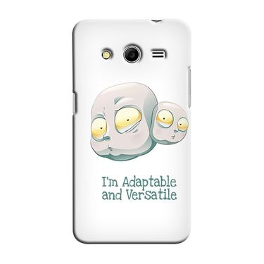 Snooky 35461 Digital Print Hard Back Case Cover For Samsung Galaxy Core 2 - White