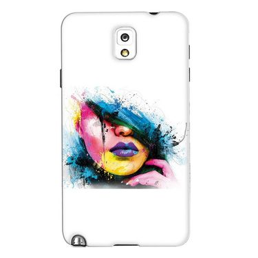 Snooky 35672 Digital Print Hard Back Case Cover For Samsung Galaxy Note 3 N900  - White