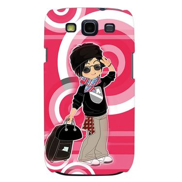 Snooky 35698 Digital Print Hard Back Case Cover For Samsung Galaxy S3 I9300 - Rose Pink