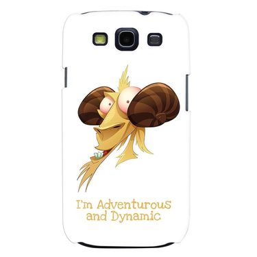 Snooky 35717 Digital Print Hard Back Case Cover For Samsung Galaxy S3 I9300 - White