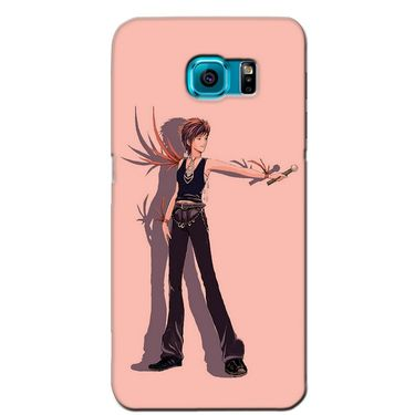 Snooky 36222 Digital Print Hard Back Case Cover For Samsung Galaxy S6 Edge - Mehroon