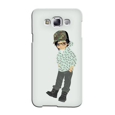 Snooky 36420 Digital Print Hard Back Case Cover For Samsung Galaxy E5 - Green