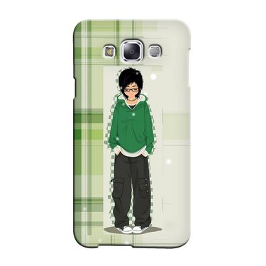 Snooky 36425 Digital Print Hard Back Case Cover For Samsung Galaxy E5 - Green