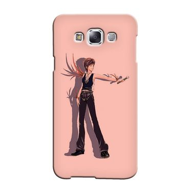 Snooky 36472 Digital Print Hard Back Case Cover For Samsung Galaxy E7 - Mehroon
