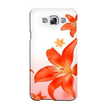 Snooky 36514 Digital Print Hard Back Case Cover For Samsung Galaxy E7 - White