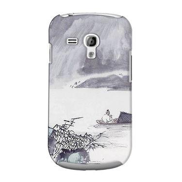 Snooky 36815 Digital Print Hard Back Case Cover For Samsung Galaxy S3 Mini - Grey
