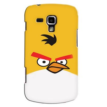 Snooky 38213 Digital Print Hard Back Case Cover For Samsung Galaxy S Duos S7562 - Yellow
