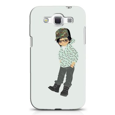 Snooky 38220 Digital Print Hard Back Case Cover For Samsung Galaxy Grand Quattro GT-I8552 - Green
