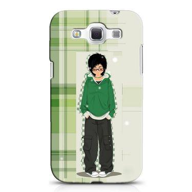 Snooky 38225 Digital Print Hard Back Case Cover For Samsung Galaxy Grand Quattro GT-I8552 - Green