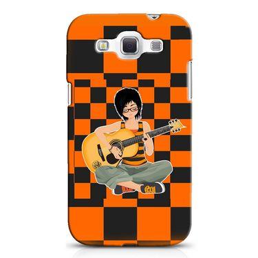 Snooky 38227 Digital Print Hard Back Case Cover For Samsung Galaxy Grand Quattro GT-I8552 - Black