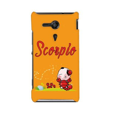 Snooky 36934 Digital Print Hard Back Case Cover For Sony Xperia SP - Yellow