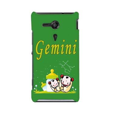 Snooky 36937 Digital Print Hard Back Case Cover For Sony Xperia SP - Green