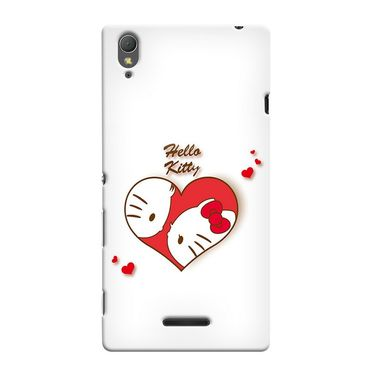 Snooky 37000 Digital Print Hard Back Case Cover For Sony Xperia T3 - White