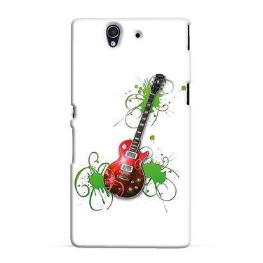 Snooky 37051 Digital Print Hard Back Case Cover For Sony Xperia Z C6602 - White
