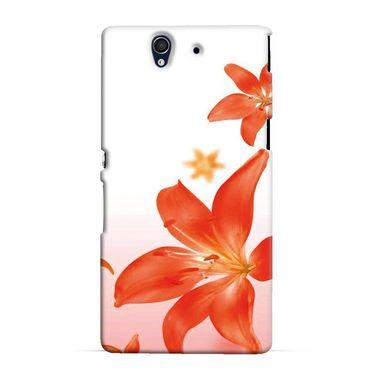 Snooky 37064 Digital Print Hard Back Case Cover For Sony Xperia Z C6602 - White