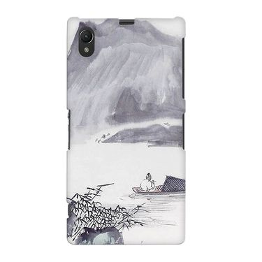 Snooky 37065 Digital Print Hard Back Case Cover For Sony Xperia Z1 - Grey