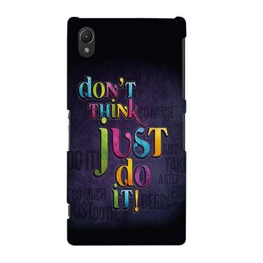Snooky 37141 Digital Print Hard Back Case Cover For Sony Xperia Z2 - Black