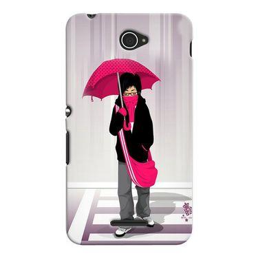Snooky 37674 Digital Print Hard Back Case Cover For Sony Xperia E4 - Multicolour