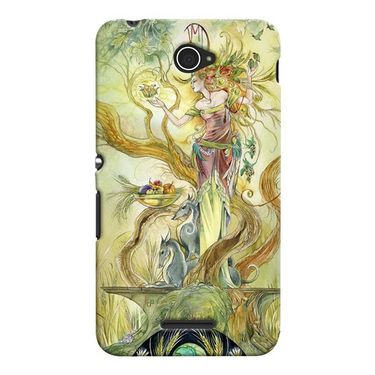 Snooky 37707 Digital Print Hard Back Case Cover For Sony Xperia E4 - Green