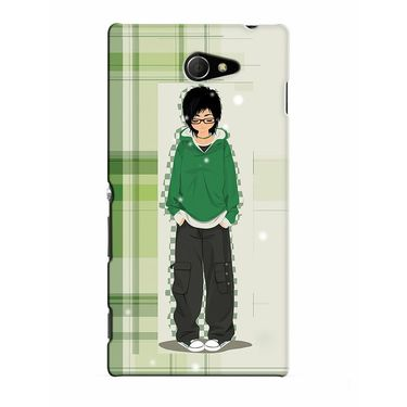 Snooky 37775 Digital Print Hard Back Case Cover For Sony Xperia M2 Dual - Green