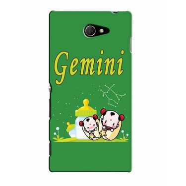 Snooky 37787 Digital Print Hard Back Case Cover For Sony Xperia M2 Dual - Green