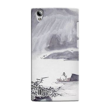 Snooky 37515 Digital Print Hard Back Case Cover For Vivo Y15 - Grey