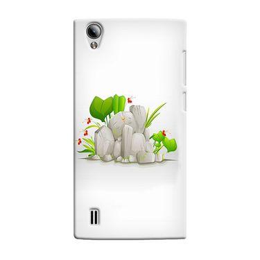 Snooky 37555 Digital Print Hard Back Case Cover For Vivo Y15 - White