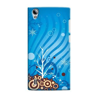 Snooky 37562 Digital Print Hard Back Case Cover For Vivo Y15 - Blue