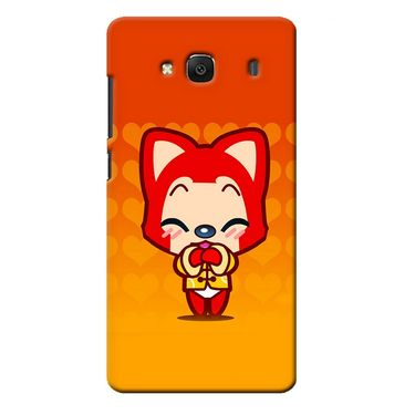 Snooky 36041 Digital Print Hard Back Case Cover For Xiaomi Redmi 2s - Orange