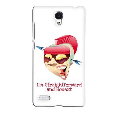 Snooky 36074 Digital Print Hard Back Case Cover For Xiaomi Redmi Note - White