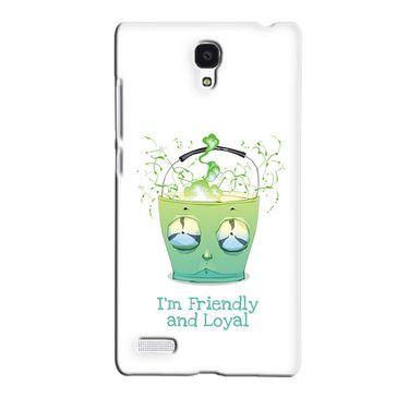Snooky 36077 Digital Print Hard Back Case Cover For Xiaomi Redmi Note - White