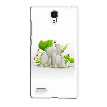 Snooky 36085 Digital Print Hard Back Case Cover For Xiaomi Redmi Note - White