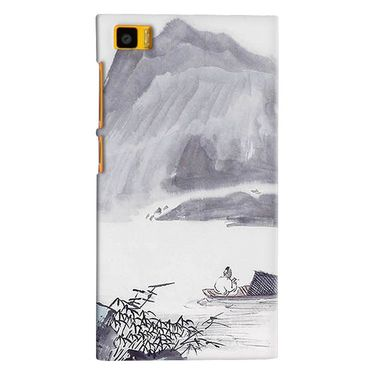 Snooky 38365 Digital Print Hard Back Case Cover For Xiaomi MI3 - Grey