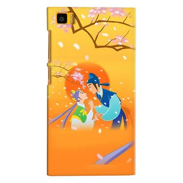 Snooky 38368 Digital Print Hard Back Case Cover For Xiaomi MI3 - Orange