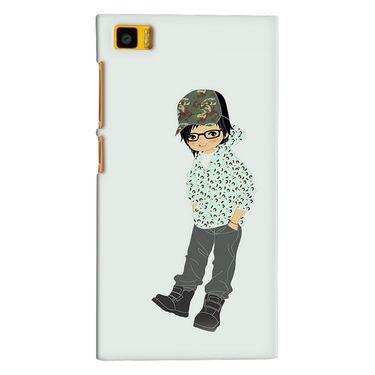 Snooky 38370 Digital Print Hard Back Case Cover For Xiaomi MI3 - Green