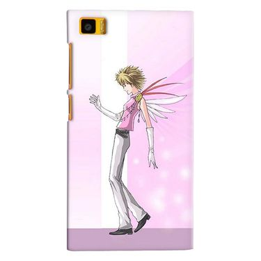 Snooky 38371 Digital Print Hard Back Case Cover For Xiaomi MI3 - Pink