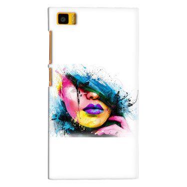 Snooky 38403 Digital Print Hard Back Case Cover For Xiaomi MI3 - White