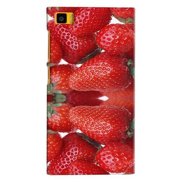 Snooky 38409 Digital Print Hard Back Case Cover For Xiaomi MI3 - Red